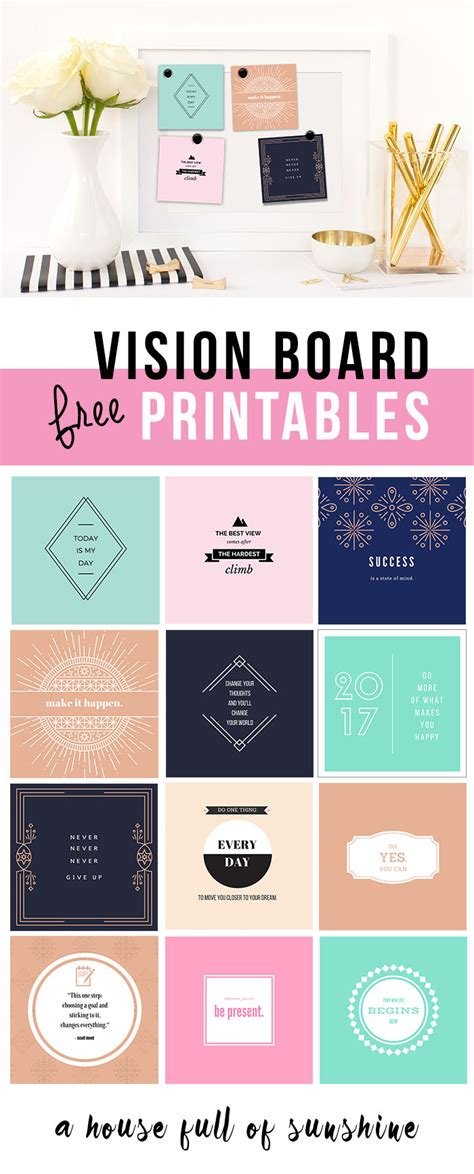 vision board templates free free 2017 vision board printables a house of