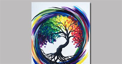 rainbow tree  life painting classes chicago