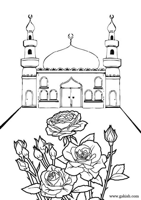 Mosque Coloring Page Mechet Raskraski Musulmanskie Girl Manners Coloring Pages 2