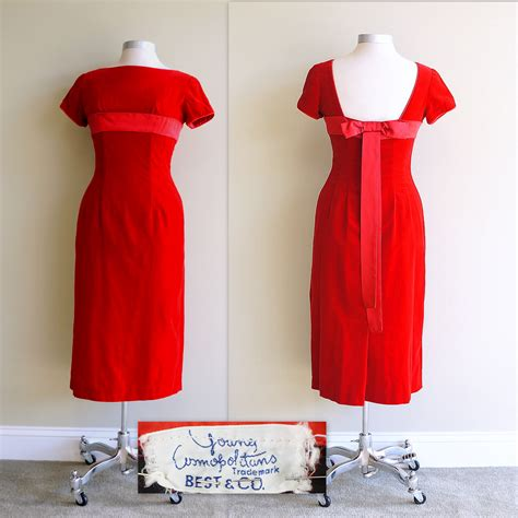 red velvet cocktail dress vintage christmas party retruly