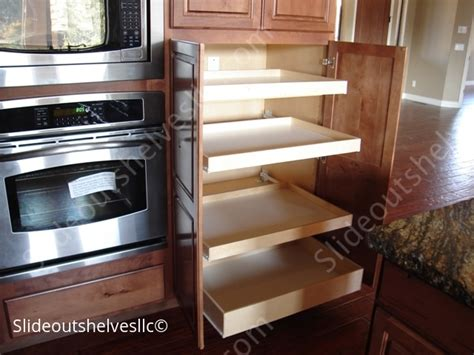 kitchen cabinet slide out shelves pull out shelves