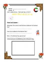 english worksheets national day in u a e