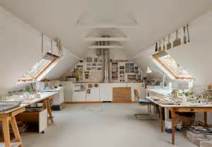 Attic Work Space by 15 Bright Attic Spaces For An Office Or Studio