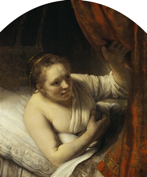 woman on woman in bed file rembrandt rembrandt van rijn a woman in bed