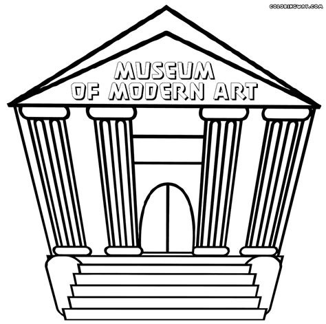 Museum Coloring Sheets Coloring Pages At The Museum Coloring Pages