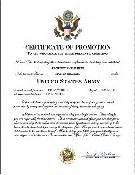 army promotion certificate template army certificate of promotion noncommissioned officer