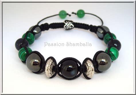 Bracelet Shamballa homme onyx et agate.