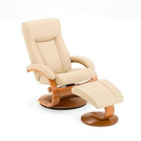 Leather Reclining Chair With Ottoman Mac Motion Oslo Collection Cobblestone Top Grain Leather Swivel Recliner With Ottoman 54 Lo3 32