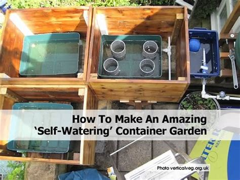 how to build container garden how to make an amazing self watering container garden