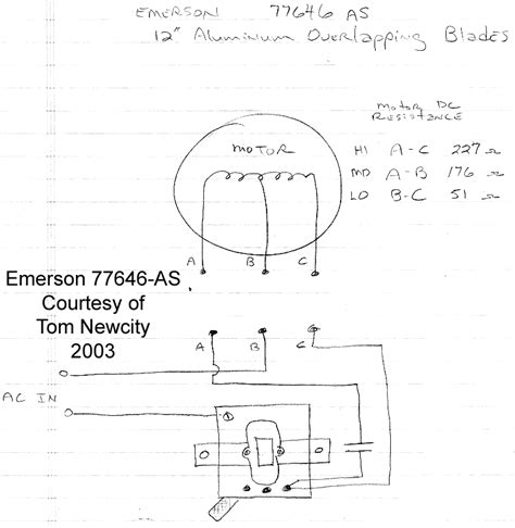 emerson psc motor wiring diagram wiring diagrams