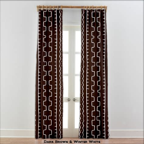 mud cloth curtains african mudcloth curtains dark brown 22 other colors