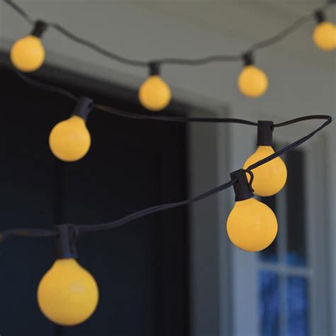 bugs away yellow globe string lights the green head