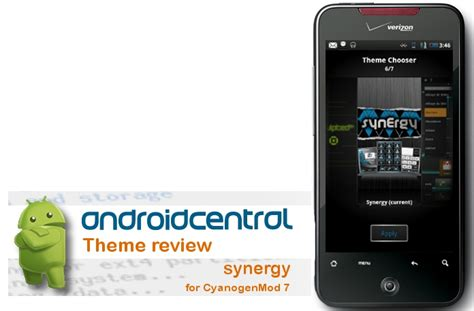 android themes review android central theme review synergy for cyanogenmod 7