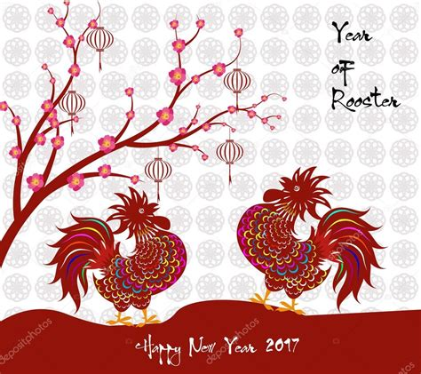 new year rooster 2018 2017 happy new year greeting card celebration new