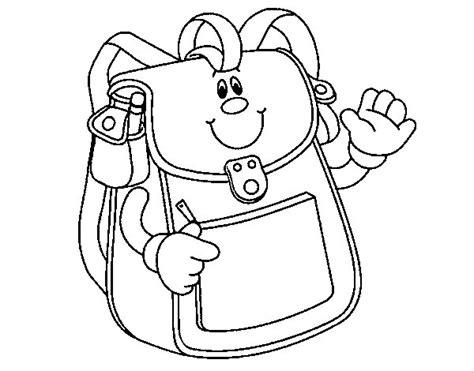 imagenes escolares sin colorear imagen de mochila para iluminar imagui