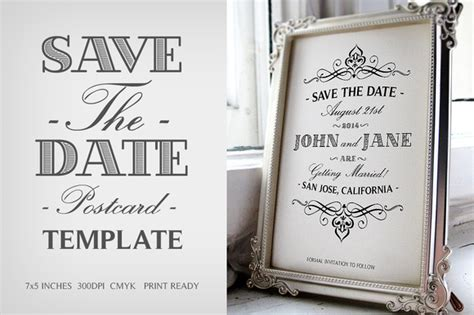 free vintage save the date templates free vintage save the date postcard template psd