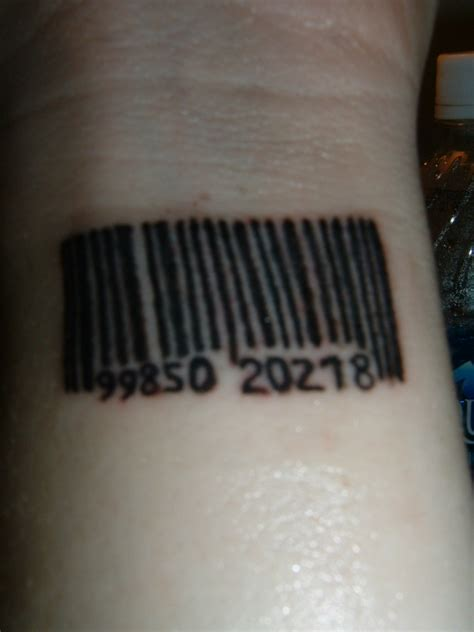 barcode tattoo wrist barcode on wrist