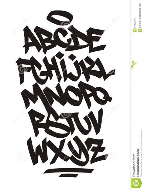 vector graffiti font handwritten alphabet stock vector