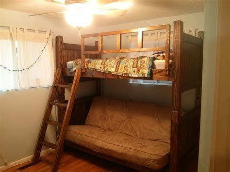custom futon bunk bed by treasure valley