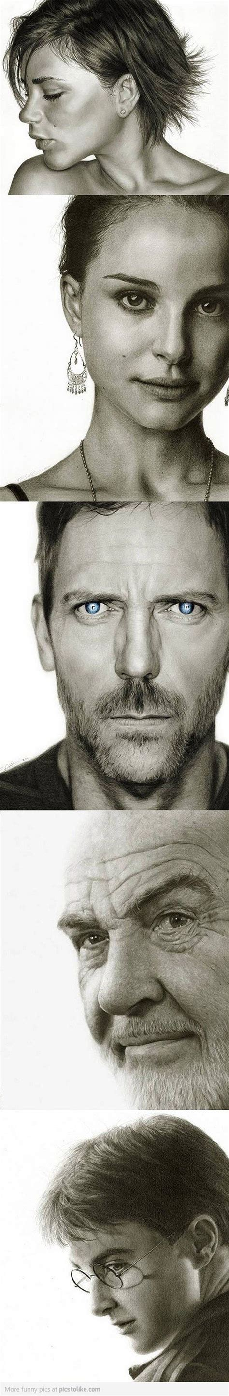 Drawing Sketches O by Portrait Hugh Laurie And Pencil On