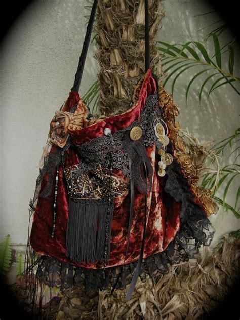 Handmade Boho Bags - fringe handbag bohemian shoulder bag handmade velvet