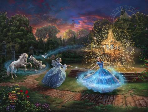 free cinderella painting wishes granted cinderella painting kinkade