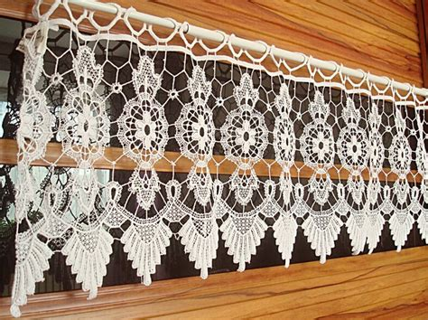 Crochet curtains 23 crochet baby dresses tops needles and patterns