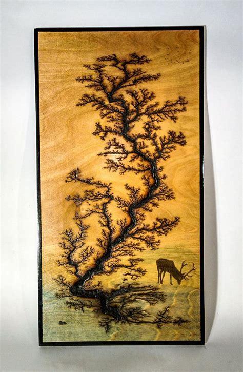 electricaly engraved wooden lichtenberg figure