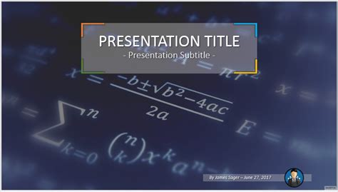 Free Math Powerpoint 46958 Sagefox Powerpoint Templates Math Powerpoint Template