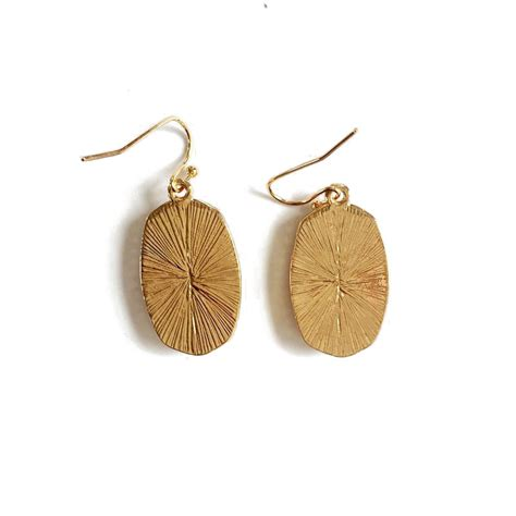 Hexagon Dangle Earrings gold plated geometric druzy hexagon dangle earrings
