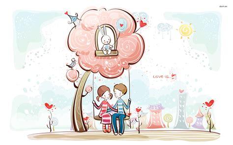 cartoon love couple wallpapers   clip