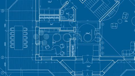 blue prints house architecture blueprint hd 4k stock footage 7730263