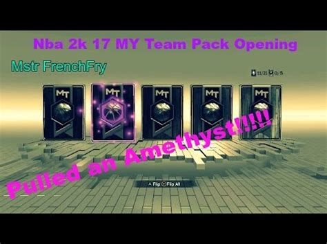 Mba 2k 17 Pack Opening nba 2k 17 my team pack opening quot we pulled an amethyst quot ep