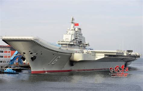 airplane carrier aircraft carrier liaoning cv16 at induction ceremony review