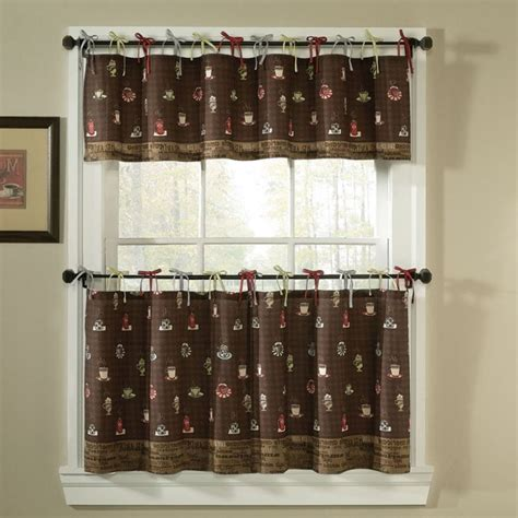 kitchen curtains coffee cup design peenmedia com