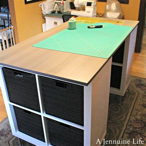 Counter Height Craft Table | diy counter height craft table a jennuine life