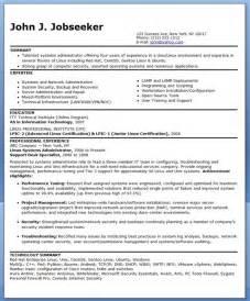 system administrator resume free sample resume myperfectresume com