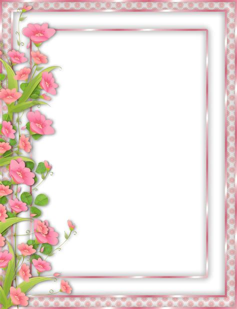 Frame Photo Meja Cantik Bunga Pink pink transparent png frame with flowers border flowers clip and decoupage