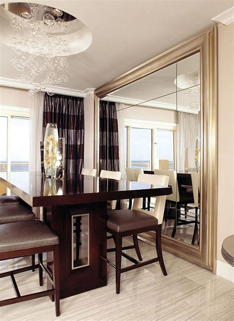 wall mirrors for dining room decorate using oversized mirrors