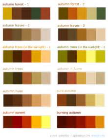 autumn color palette fall wedding color palette