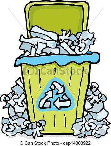 clipart rifiuti bidone carta rifiuti riciclaggio illustrazione