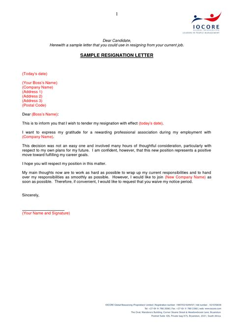 Resignation Letter Gratitude search results for letter of resignation templates