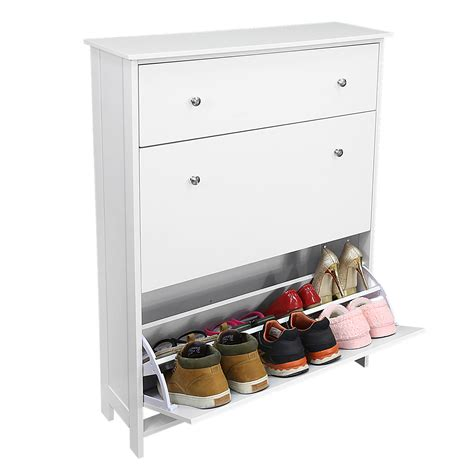 shoe storage with drawers 3 drawers white wooden shoe storage cabinet shelf