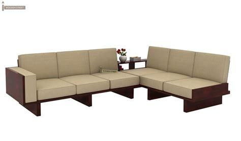 wooden corner sofa set 6 seater l shape corner sofa set mahogany finish
