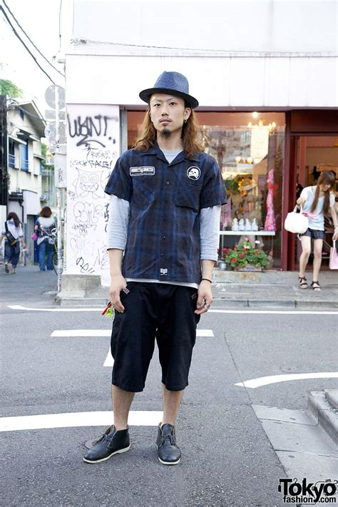 Fedorafashion Blouse No 08 straw fedora with bounty shirt shorts