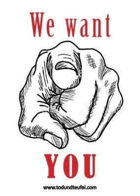 Plakat We Want You by We Want You Tod Und Teufel