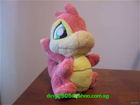 yurble plushie items for sale neopets baby scorchio plushie