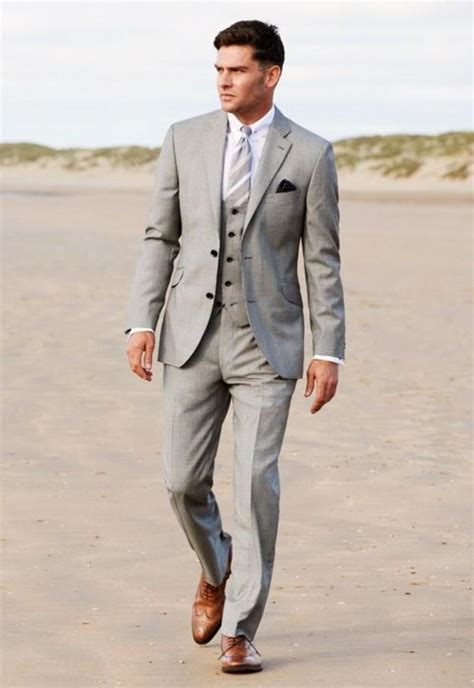 Aliexpress com buy 2015 grey groom tuxedos best man slim suit formal
