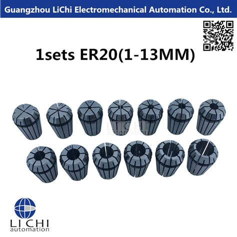 Er20 Collets 13pcs From 1mm To 13mm For Cnc Milling Lathe Tool Engravi buy wholesale lathe spindle from china lathe