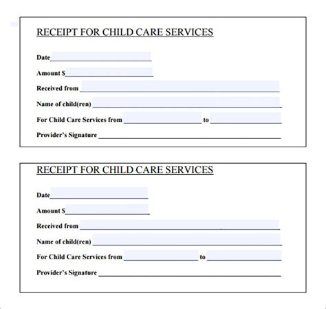 receipt of services templat 11 printable receipt templates free sles exles